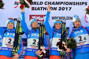 Очередной казус с гимном России случился на чемпионате мира по биатлону