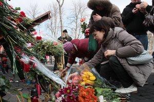 В Киеве чтят память погибших во время Революции достоинства