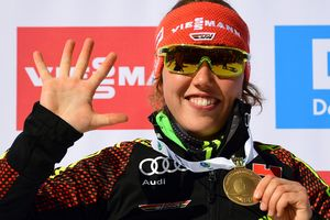Laura Dallmeier set a record for the number of gold medals at the world Championships