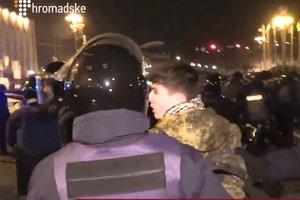 Una manifestazione di protesta nel centro di Kiev si è conclusa