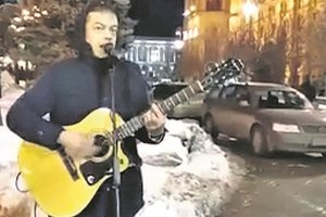 In Kiev's parks are the street musicians