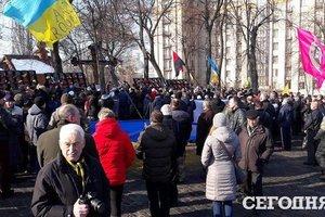 Im Zentrum von Kiew fünf Straßen gesperrt