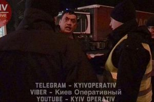 In Kiev, the police chased a drunk