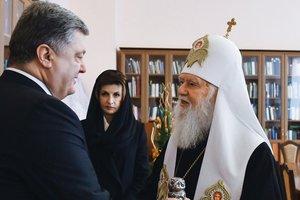 Porochenko a tenu une réunion avec le patriarche Philarète