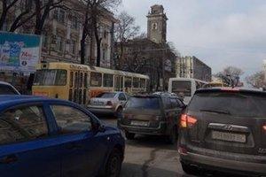 В Одессе произошел трамвайный коллапс