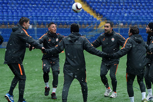 Shakhtar held a training session on the day of the match against Celta