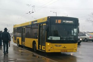 How goes the new bus No. 118 in Kiev: features, the number of cars and the track