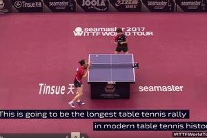 В настольном теннисе установлен рекорд продолжительности одного розыгрыша