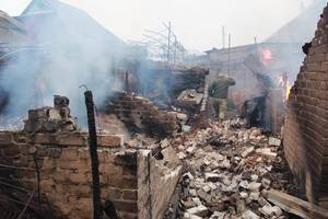 Ад в Авдеевке: нет электричества, перебои с мобильной связью и разрушенные дома