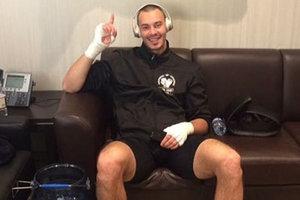 Alexandre Teslenko ganhou seu nono luta para os profissionais do ringue-