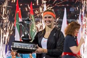 Яркие кадры награждения Элины Свитолиной в Дубае