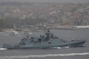Russia returns to the shores of Syria frigate with cruise missiles - media