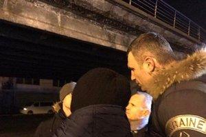 Кличко доложил о ситуации с обвалившимся мостом на Шулявке