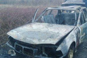 В Закарпатской области на ходу загорелась BMW