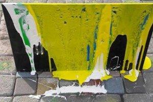 В парке Рыльского в Киеве вандалы повредили памятный знак погибшим на Востоке бойцам