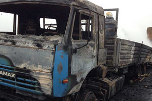На трассе Киев-Одесса загорелся КамАз