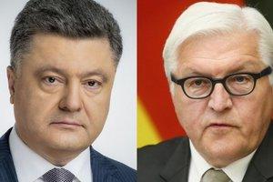 Порошенко по телефону со Штайнмайером обсудили обострение на Донбассе