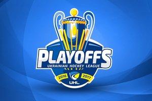 Логотип и расписание плей-офф Украинской хоккейной лиги