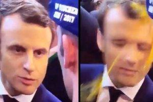 В кандидата в президенты Франции Макрона бросили яйцо
