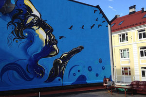 В Днепре 15 фасадов украсят яркими рисунками