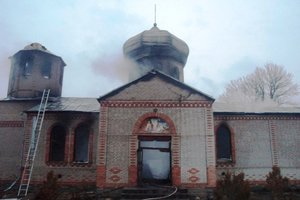 Огонь практически уничтожил церковь в Житомирской области