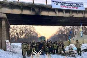 В Мариуполе протестовали против блокады Донбасса