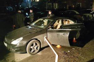 В Сети появилось видео с места расстрела бизнесмена в Киеве