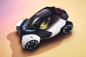 Toyota придумала трехколесную машину без руля и педалей