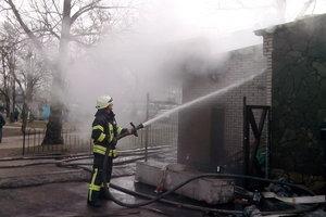 В Киеве утром сгорело кафе (обновлено)