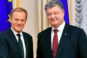 Порошенко поздравил Туска с переизбранием на посту президента Европейского Совета