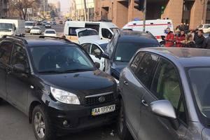 В центре Киева произошло масштабное ДТП с пострадавшими