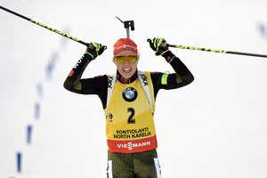 Лаура Дальмайер выиграла гонку преследования в Контиолахти