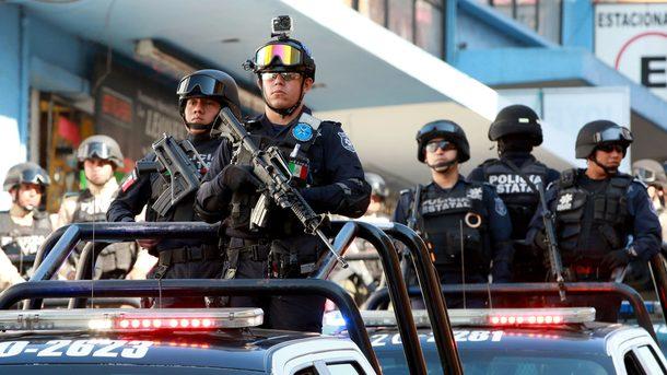 Полиция Мексики, фото AFP