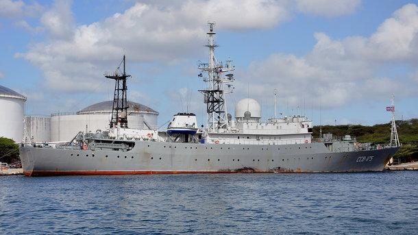 Увосточного побережья США увидели русский корабль-разведчик