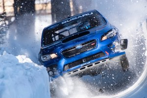 Videochat: hard descent Subaru bobsleighing in the Alps