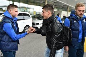 Сборная Украины прибыла в Австрию: сотрудники отеля встречали футболистов аплодисментами