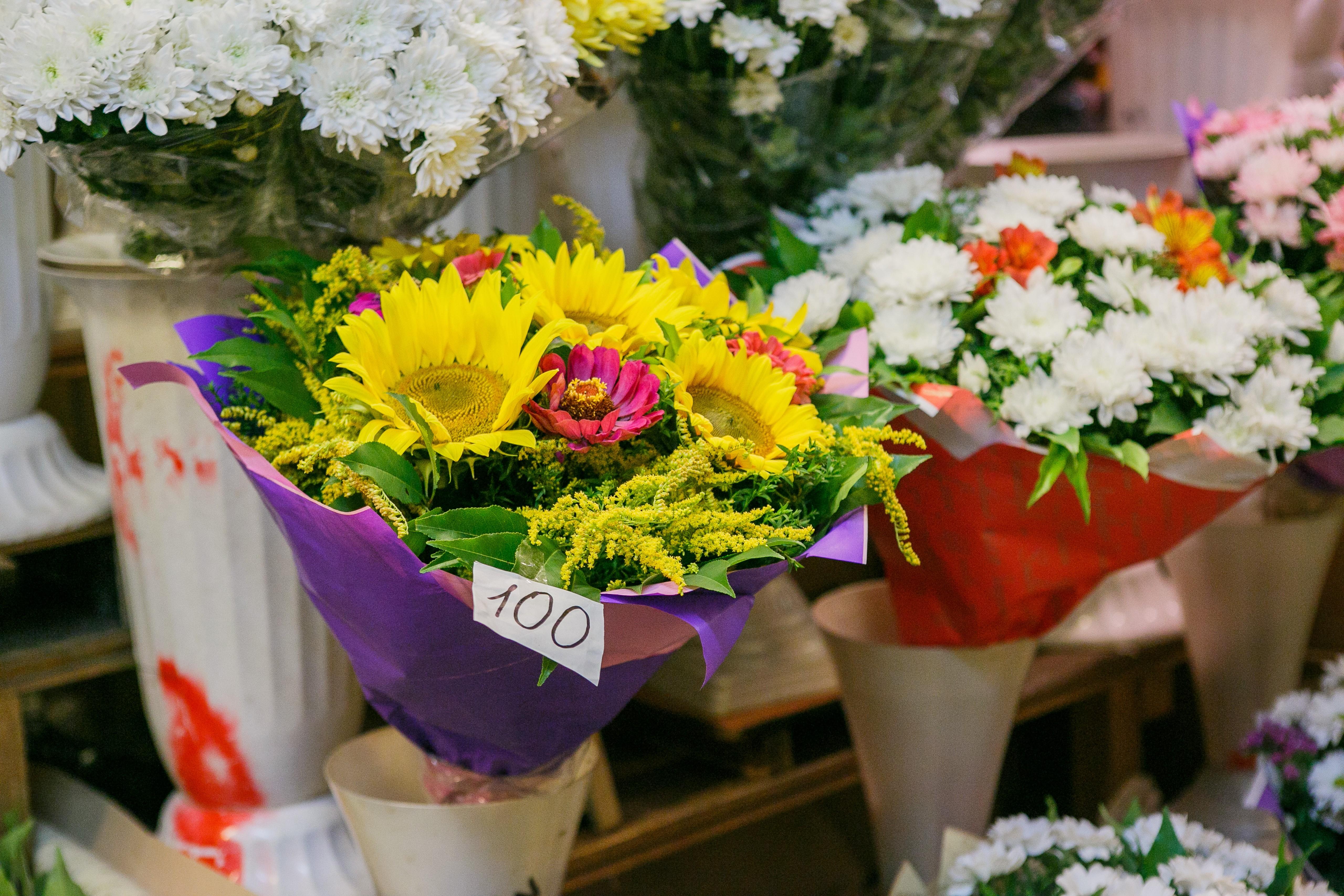 Покупка цветов