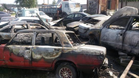 ВКиево-Святошинском районе наштрафплощадке сгорели шесть авто