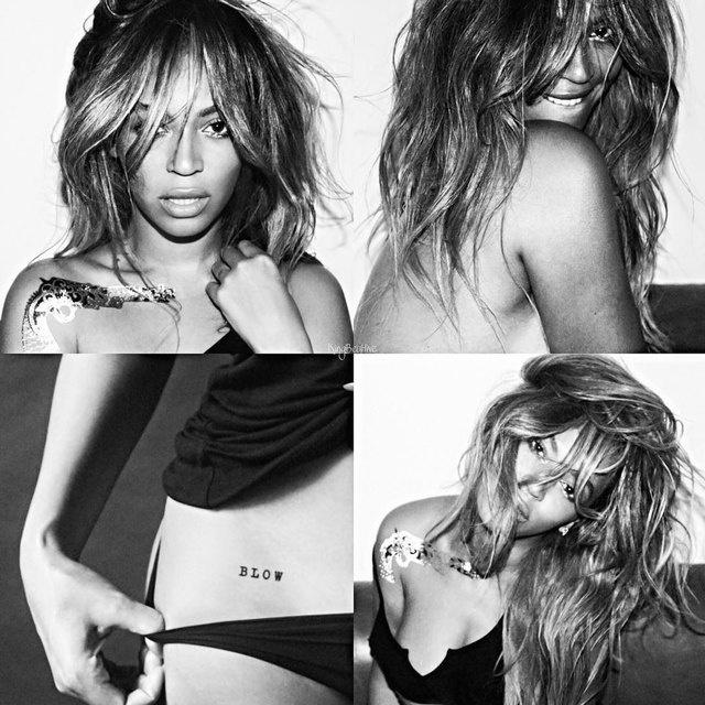 Голая Бейонсе показала свои татуировки в откровенной фотосессии (фото)
