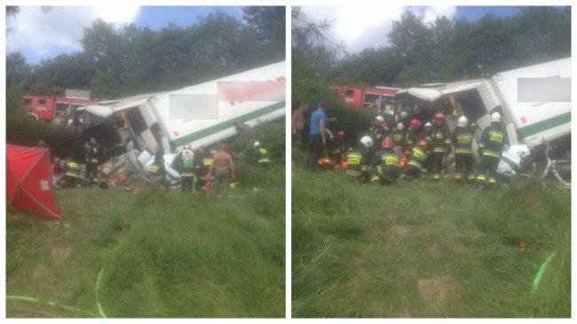 Число пострадавших вДТП савтобусом вПольше выросло до 48 человек