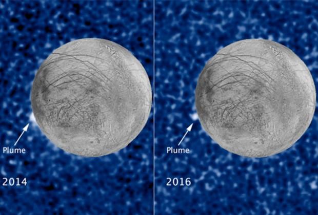 Хаббл сфотографировал огромные криовулканы наЕвропе, ученые готовят новейшую миссию