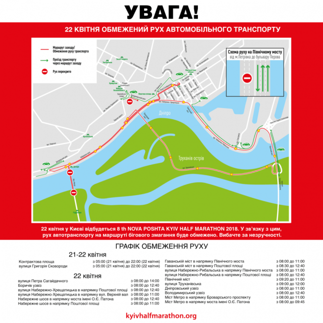 Ряд улиц и мостов в Киеве сегодня перекроют из-за полумарафона - Цензор.НЕТ 2430