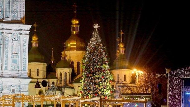 Новый год за городом украина