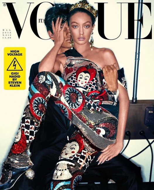 Очень множество бронзера ифотошопа: Джиджи Хадид раскритиковали заобложку Vogue Italia