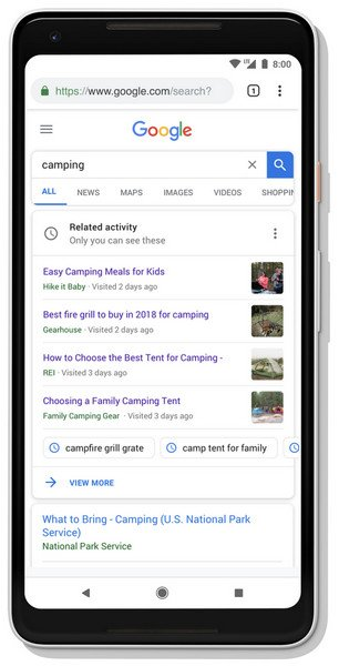 google-search-new-features-20-years-activity
