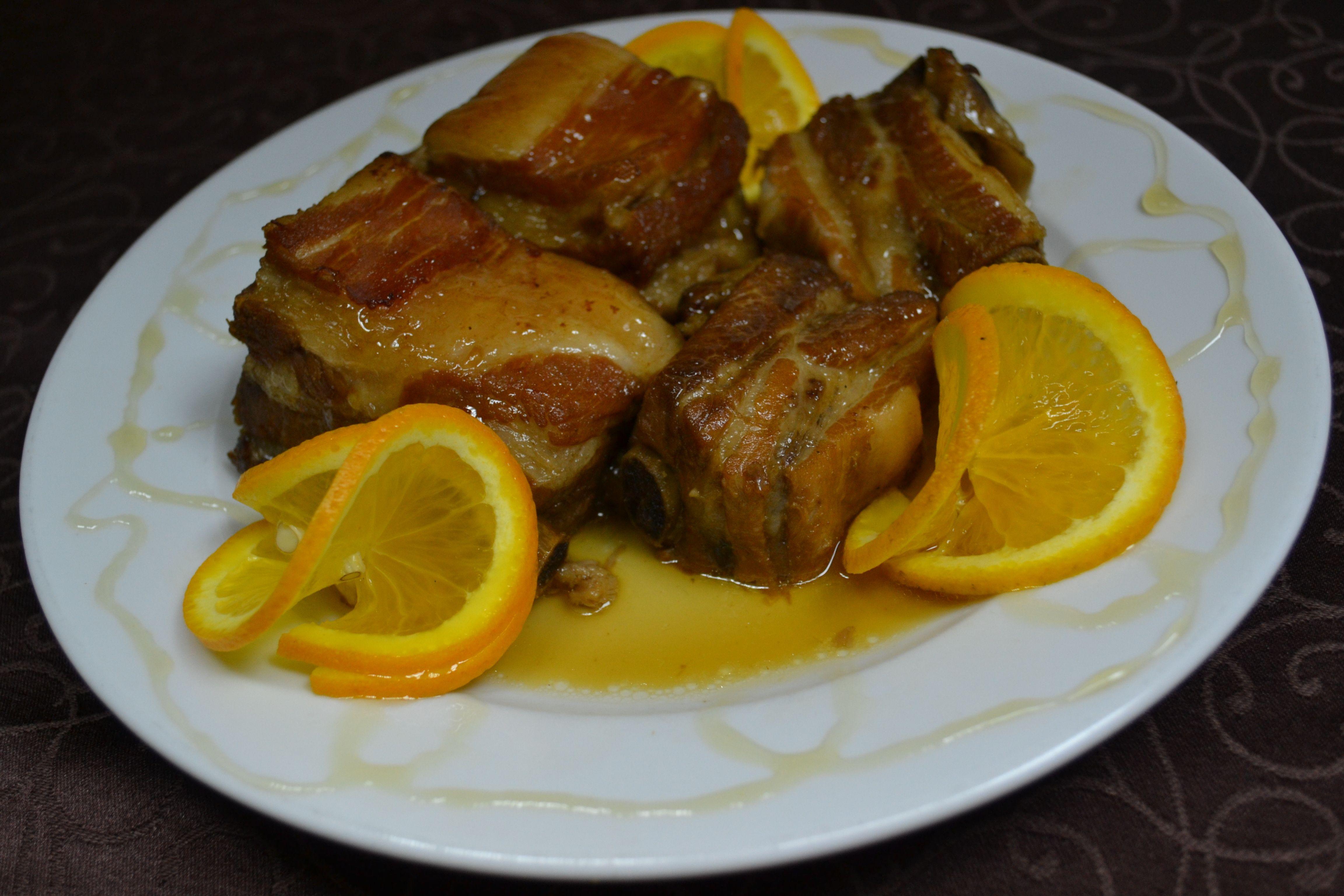 Ребрышки в медово-апельсиновом соусе