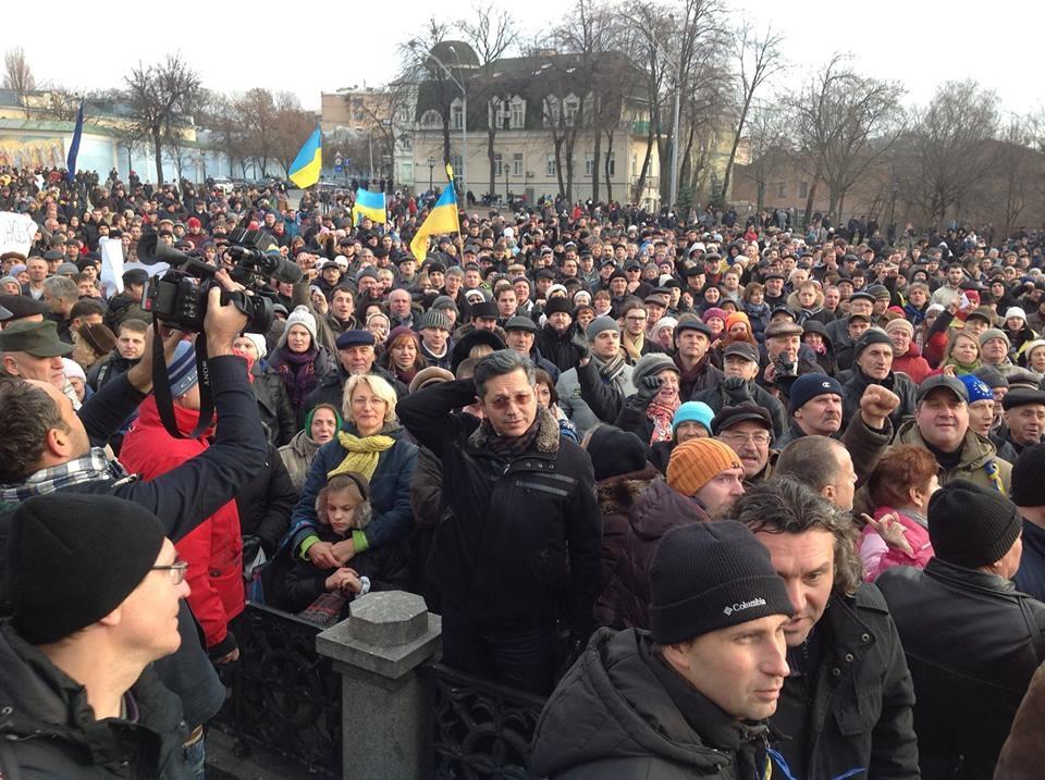 михайловская площадь в киеве 30 ноября 2013
