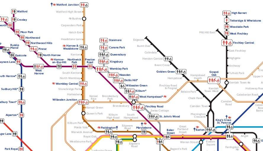 Схема лондонского метро с