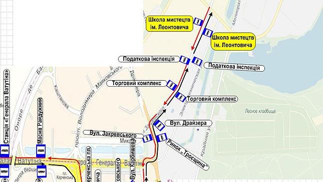 для автобусов маршрутов №№ 100