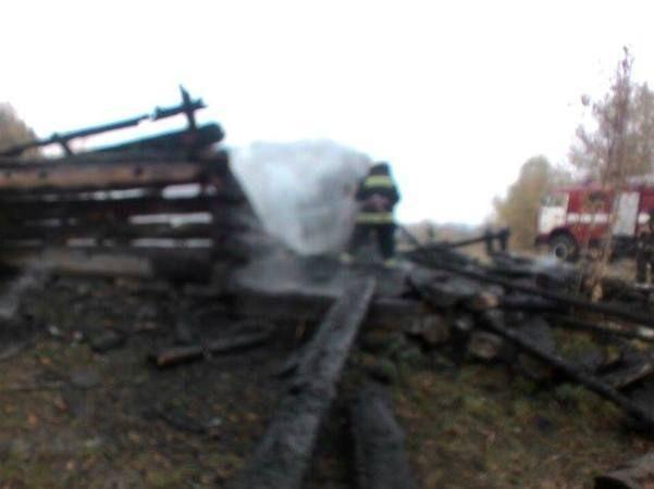 ВКиеве горел музей Пирогово